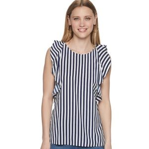 Juicy Couture Ruffled Sleeve Tank Top